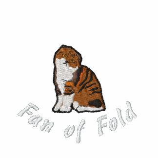 Scottish fold fan of fold embroidered polo shirt