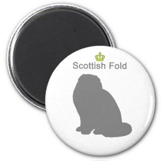 Scottish Fold g5 6 Cm Round Magnet