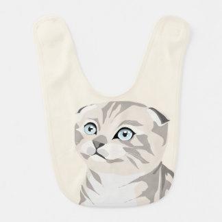 Scottish Fold Kitten bib Bib
