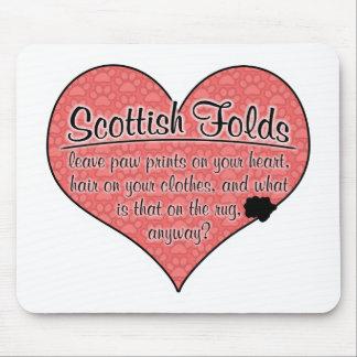 Scottish Fold Paw Prints Cat Humour Mousepads