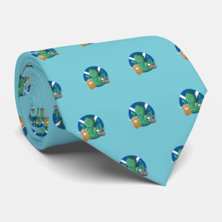 Scottish Friends  (robin egg blue) Tie