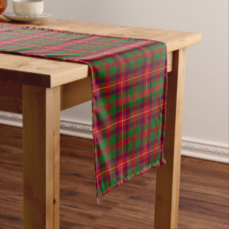 Scottish Geddes Plaid Tartan Long Table Runner