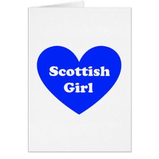Scottish Girl Card