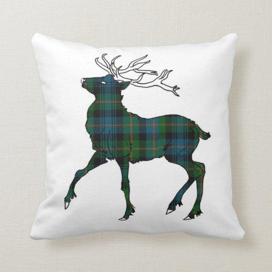 Scottish (Glenalmond) Tartan Stag Throw Cushion
