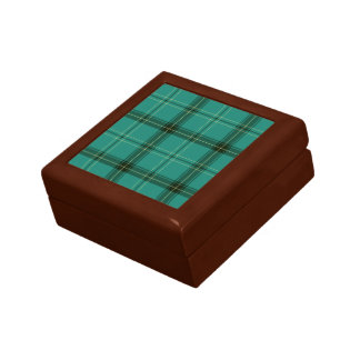 Scottish Green Tartan Gift Box