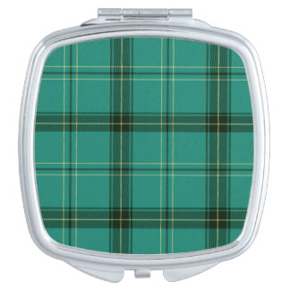 Scottish Green Tartan Travel Mirror