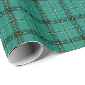 Scottish Green Tartan Wrapping Paper