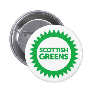 Scottish Greens Logo 6 Cm Round Badge