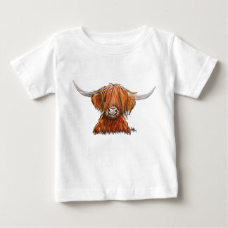 Scottish Hairy Highland Cow ' HARLEY '. Baby T-Shirt