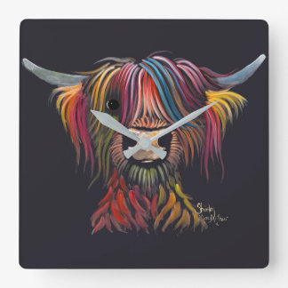 Scottish Hairy Highland Cow ' OLIVER ' Wall Clock