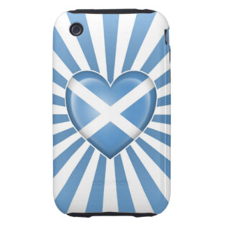 Scottish Heart Flag with Star Burst iPhone 3 Tough Cases