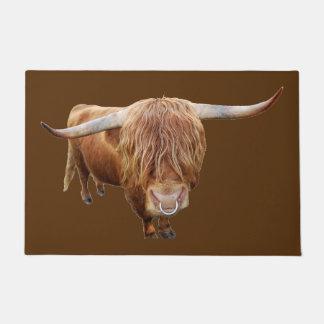 Scottish highland cattle doormat