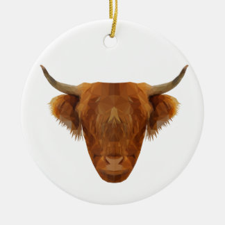 Scottish Highland Cattle Scotland Animal Cow Christmas Ornament
