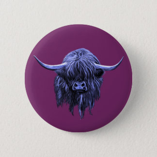 Scottish Highland Cow 6 Cm Round Badge