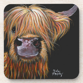 Scottish Highland Cow 'Henry' Coasters Set of 6