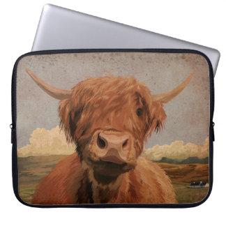 Scottish highland cow laptop sleeve