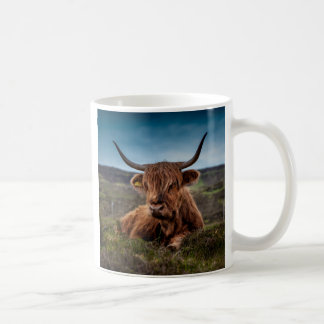 Scottish Highland Cow Longhorn Bull Rancher Coffee Mug