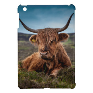 Scottish Highland Cow Longhorn Bull Rancher Cover For The iPad Mini