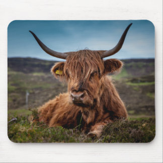 Scottish Highland Cow Longhorn Bull Rancher Mouse Mat