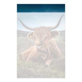 Scottish Highland Cow Longhorn Bull Rancher Stationery