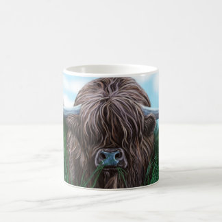 Scottish Highland Cow Painting Coffee Mug