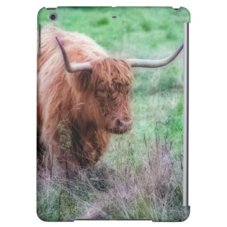 Scottish Highland cow photograph case Cover For iPad Air