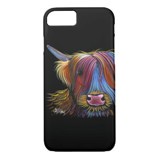 Scottish Highland Cow ' PODGER ' by Shirley M iPhone 8/7 Case