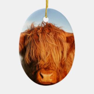 Scottish Highland Cow - Scotland Ceramic Oval Decoration