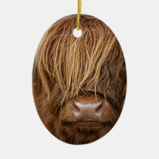 Scottish Highland Cow - Scotland Christmas Ornament