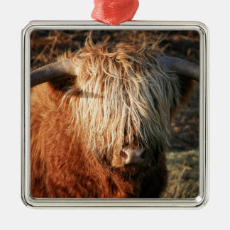 Scottish Highland Cow - Scotland Christmas Ornament