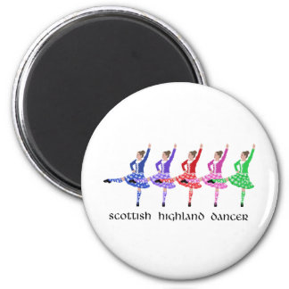 Scottish Highland Dance Line 6 Cm Round Magnet