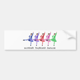 Scottish Highland Dance Line Bumper Sticker