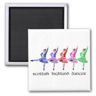 Scottish Highland Dance Line Fridge Magnets