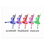 Scottish Highland Dance Line Postcard
