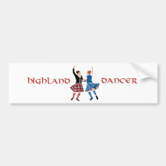 Scottish Highland Dance Reel Bumper Sticker