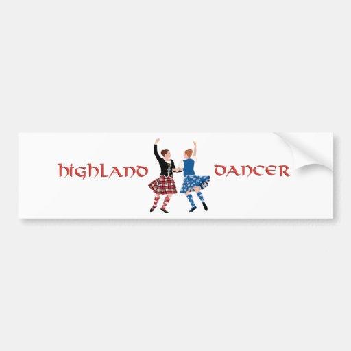 Scottish Highland Dance Reel Bumper Sticker