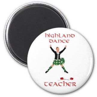 Scottish Highland Dance Teacher 6 Cm Round Magnet
