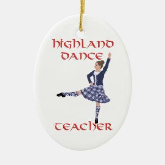 Scottish Highland Dance Teacher - Blue Christmas Ornament