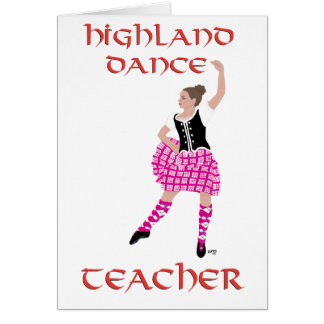 Scottish Highland Dance Teacher Cards