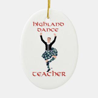 Scottish Highland Dance Teacher Christmas Ornament