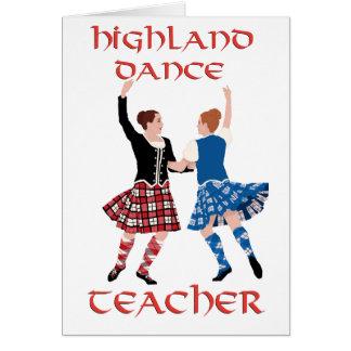 Scottish Highland Dance Teacher Greeting Card