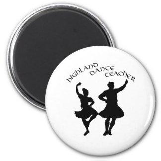 Scottish Highland Dance Teacher - Silhouette 6 Cm Round Magnet