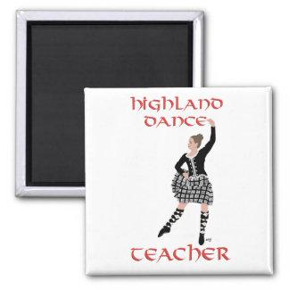 Scottish Highland Dance Teacher Square Magnet