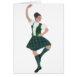 Scottish Highland Dancer Campbell Greeting Card