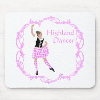 Scottish Highland Dancer Celtic Knotwork Pink Mouse Pad