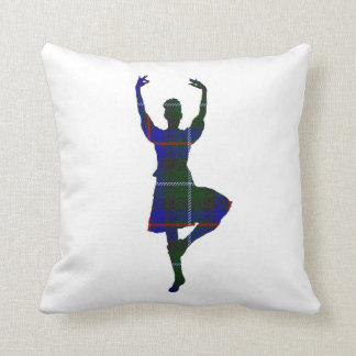 Scottish Highland Dancer double-sided Throw Pillow
