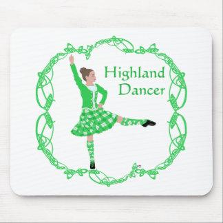 Scottish Highland Dancer - Green Mouse Pad
