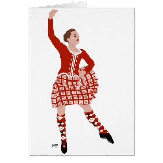 Scottish Highland Dancer in Red Greeting Card