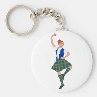 Scottish Highland Dancer MacLaren Tartan Key Ring