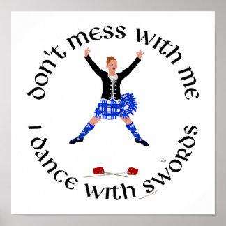 Scottish Highland Dancer Poster